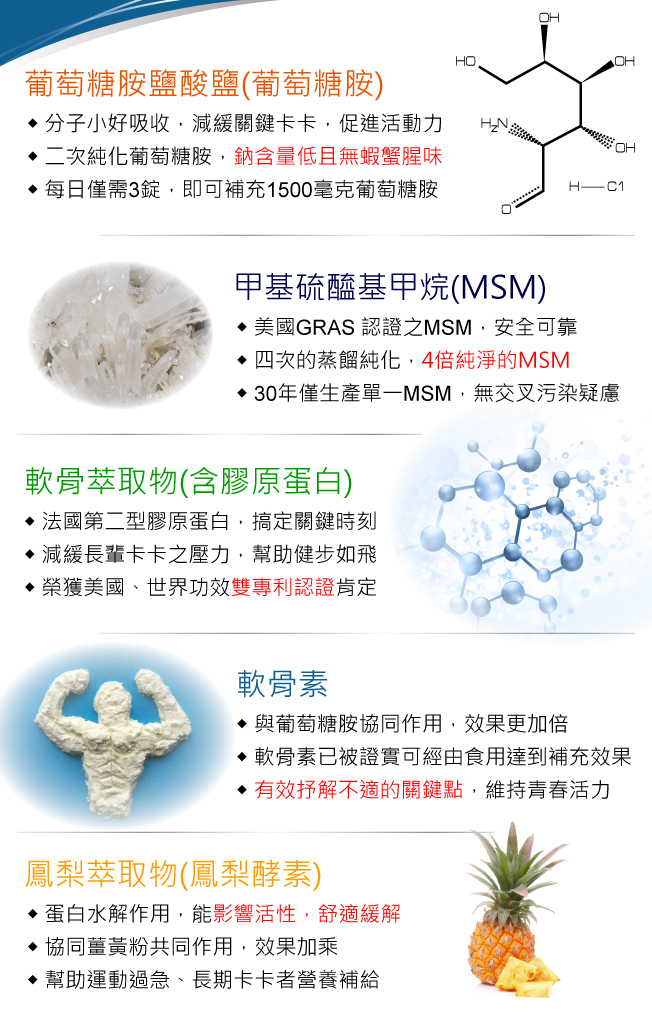 【BeeZin康萃】樂活 葡萄糖胺+MSM x5盒(90錠/瓶)
